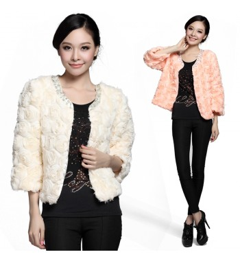 Rose Accent Party Wear Jacket
