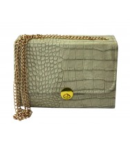 Crocodile skin Pattern Golden Chain Bag