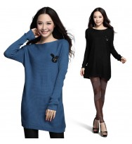 Blue  Bunny Tunic Sweater