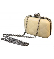 Box bag in gun metal chain