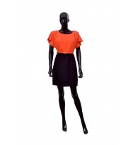 Tapered Waist Dress in Orange