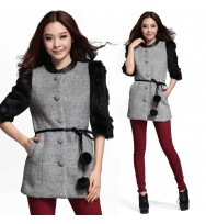 FurSleeve  with belt  winter Wear