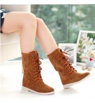 Hiking Boots, Ankle Length Suede Boots in line Checkers
