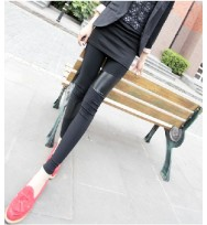 Leather Patch leggings free Size