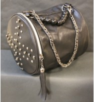 Metallic Chain Beige Bag