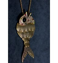 Gleaming Fish Pendant Necklace