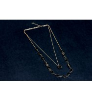 Double layer Black Stone Necklace