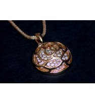 Crystal Rose Pendant Necklace