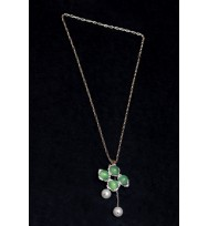 Jade Green pendant Necklace