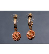 Pave Costume Earrings