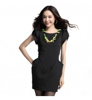 Black Neck chain Dress