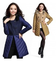 Slim Fit  Collarless Long Coat