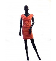 Vibrant Drape cut Dress